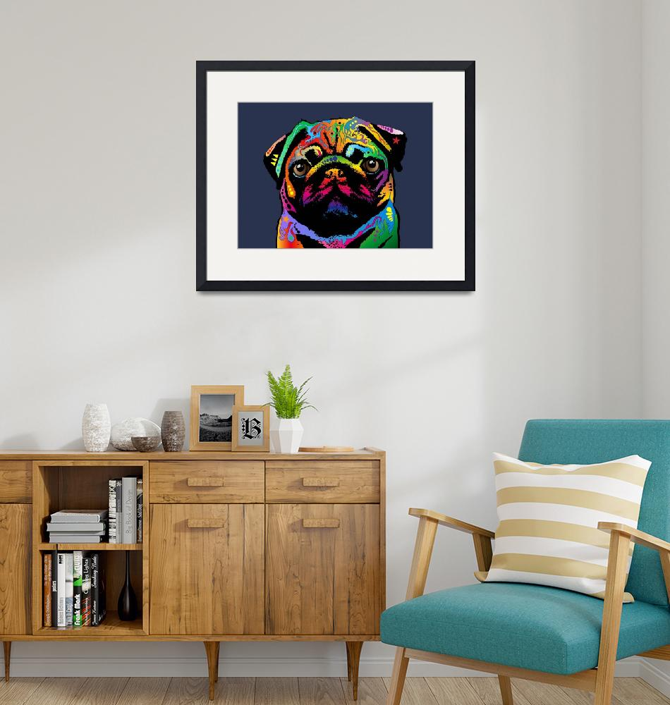 """Pug Dog""  (2015) by ModernArtPrints"