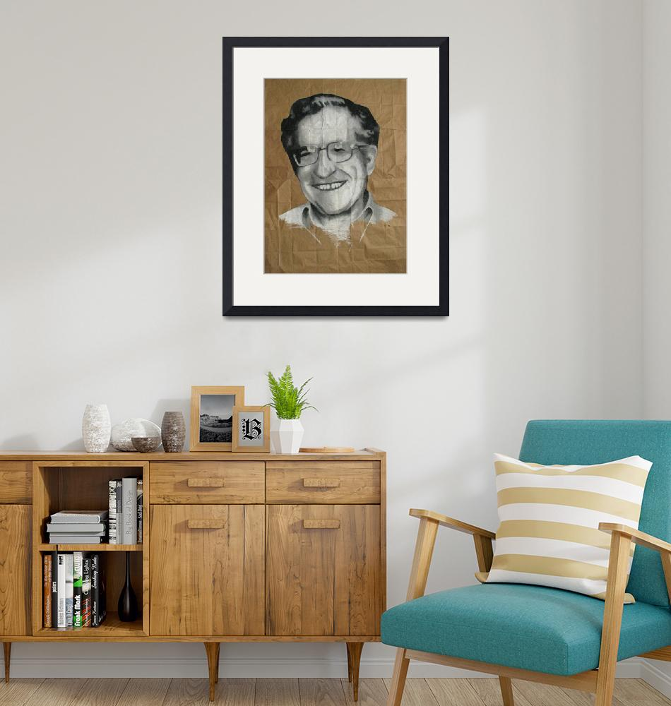"""Noam Chomsky""  (2007) by DevonGrey"