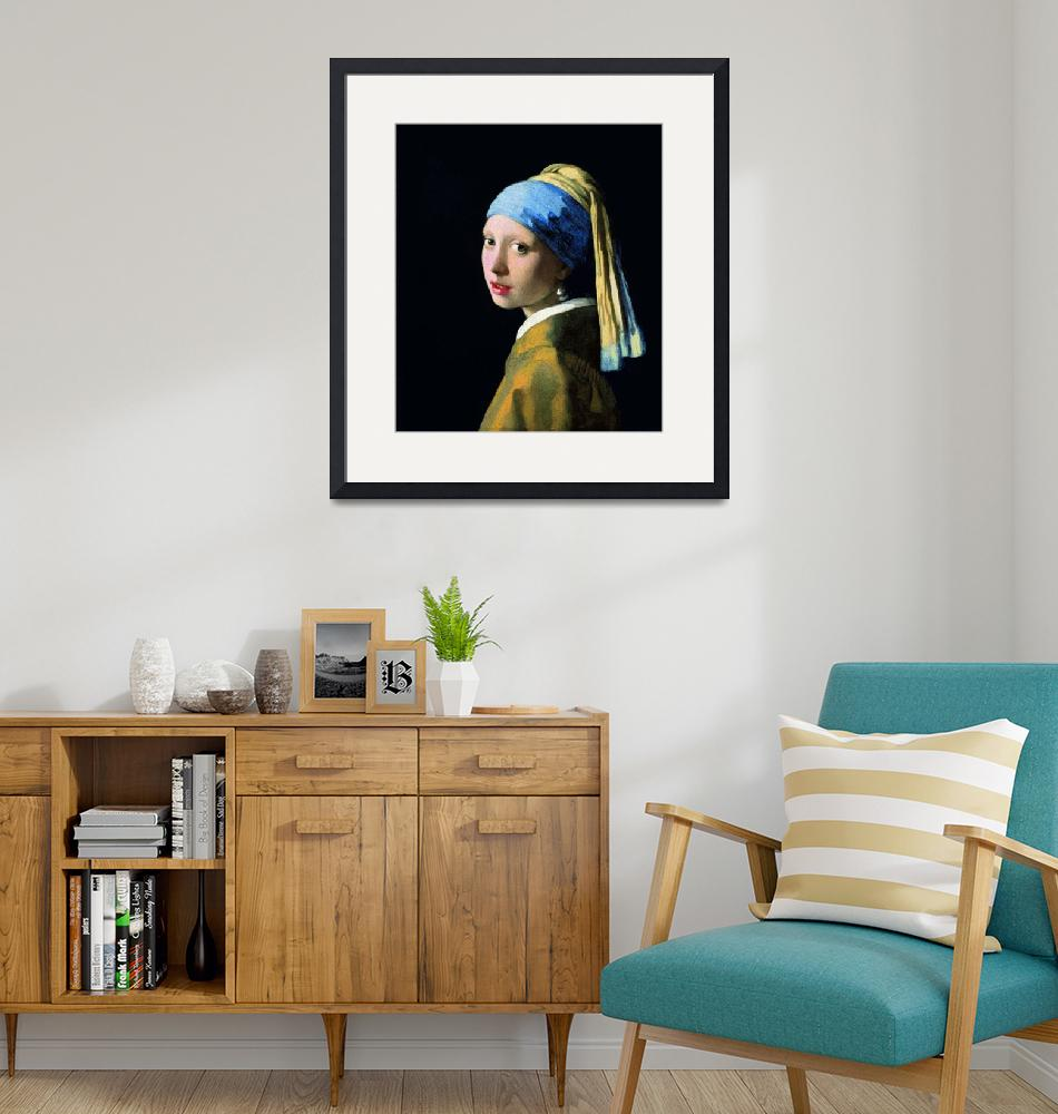 """""""Jan Vermeer Girl With A Pearl Earring""""  by artpictures"""