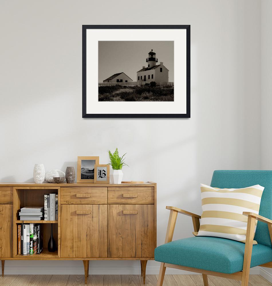 """""""Point Loma Lighthouse in Sepia""""  (2006) by monicabryantphotography"""