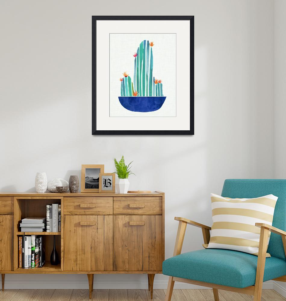"""""""Flowering Cactus""""  (2018) by moderntropical"""