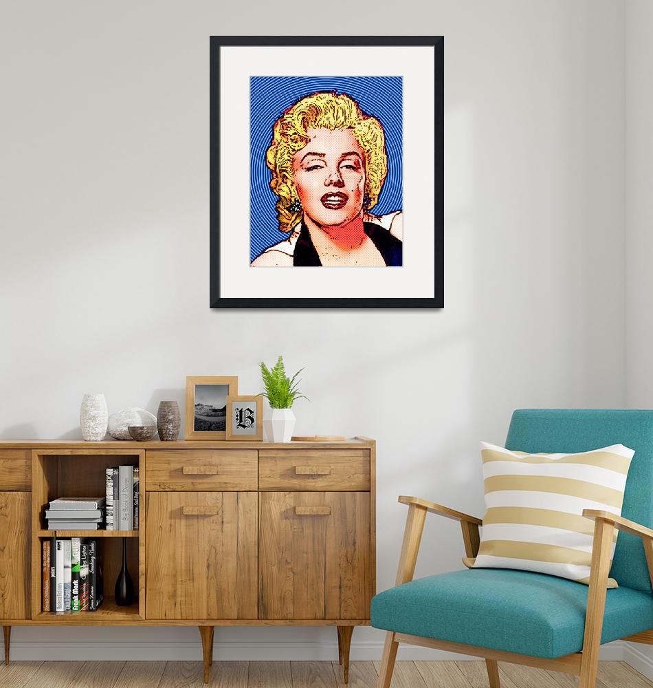 """Marilyn Monroe - Color -Circles""  (2011) by Automotography"