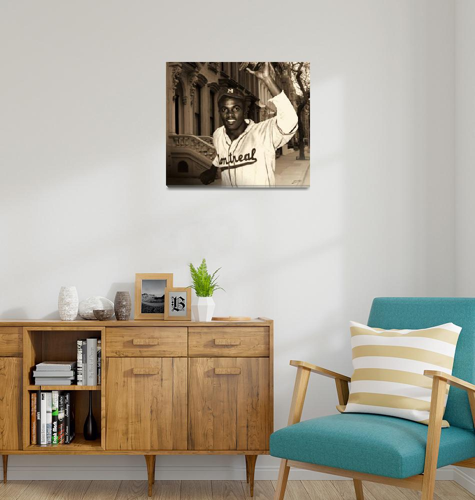 """Jackie Robinson Becomes a Brooklyn Dodger""  (2010) by spadecaller"