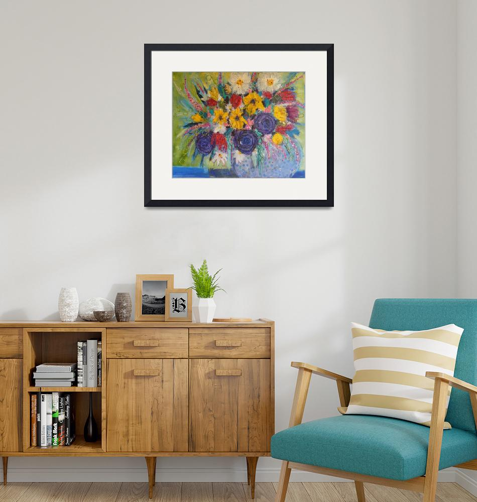 """""""Bright and Bold Bouquet""""  (2019) by LindaGreigArt"""