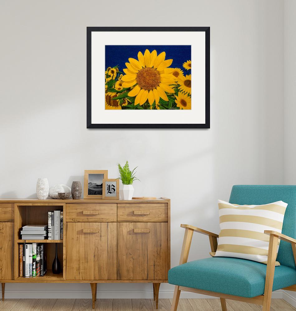 """""""SUDDENLY SUNFLOWERS""""  (2010) by terryhuey"""