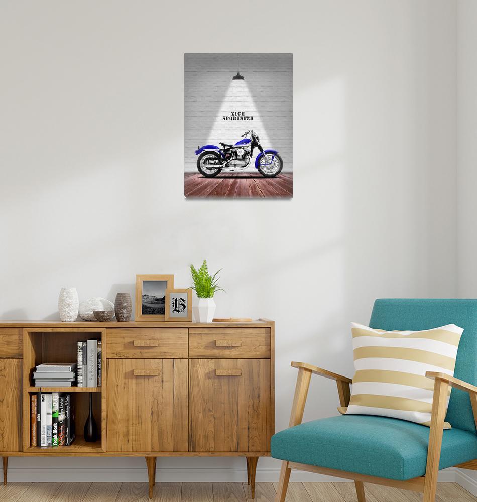 """The Sportster Vintage Motorcycle""  by mark-rogan"