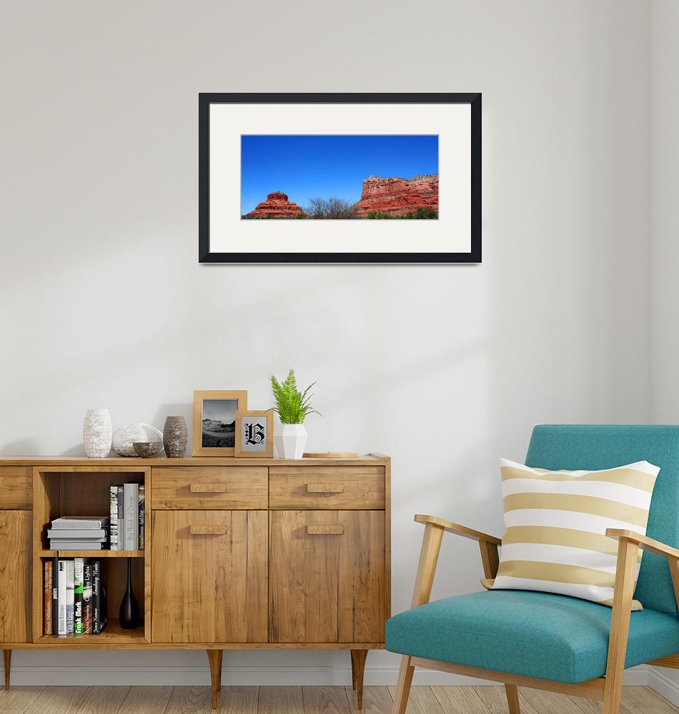 """""""Bell Rock and Courthouse Rock, Sedona""""  (2014) by laurielarson"""