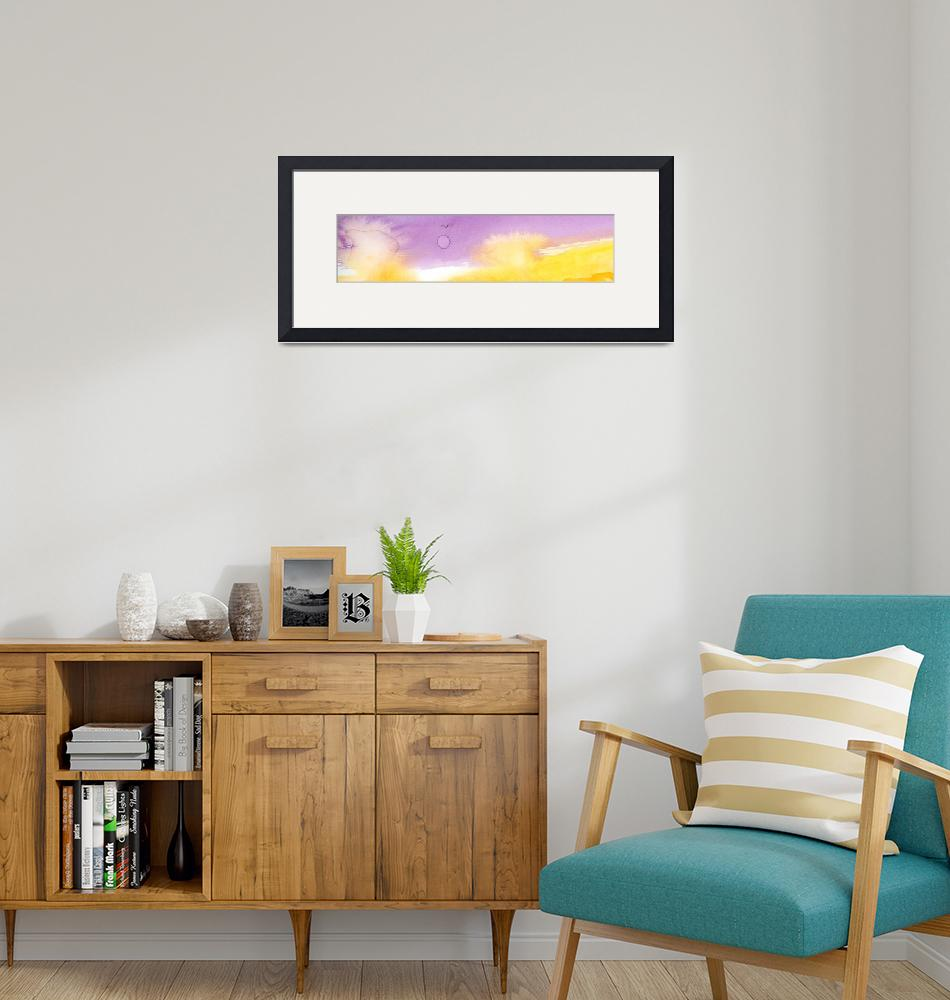 """""""Panoramic Watercolor abstract clouds 2""""  (2017) by GinetteCallaway"""
