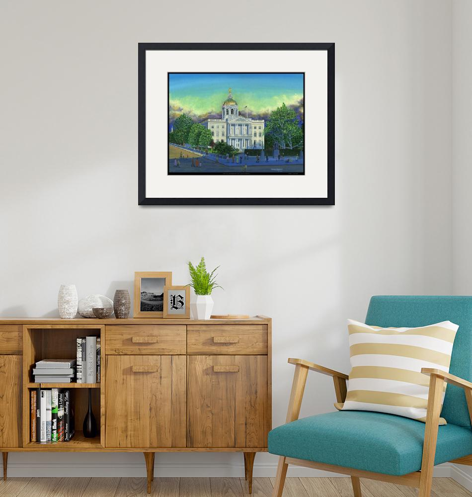 """""""""""A New Day"""" New Hampshire State House"""" (2005) by JamesATravers"""