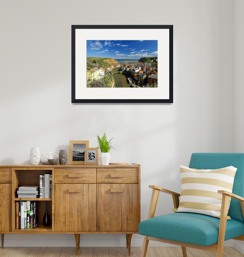 """""""The Seaside Village of Staithes (40347-RDA)""""  (2014) by rodjohnson"""