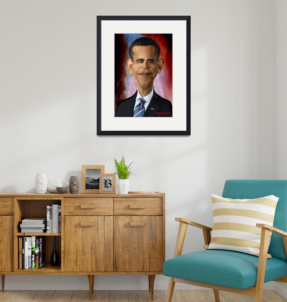 """President_Official_Portrait dev""  (2011) by noedieartwork"