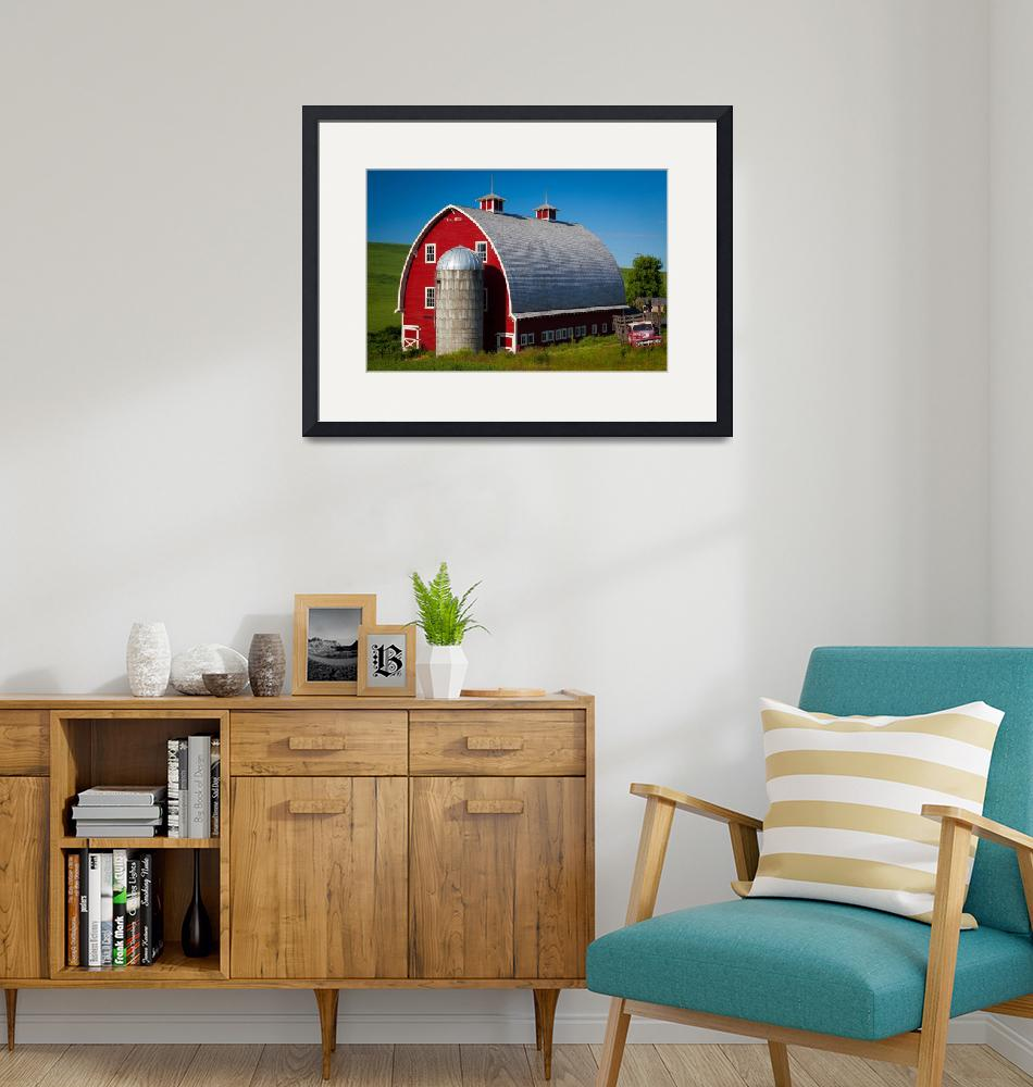 """""""Palouse Red Barn #1""""  (2011) by Inge-Johnsson"""