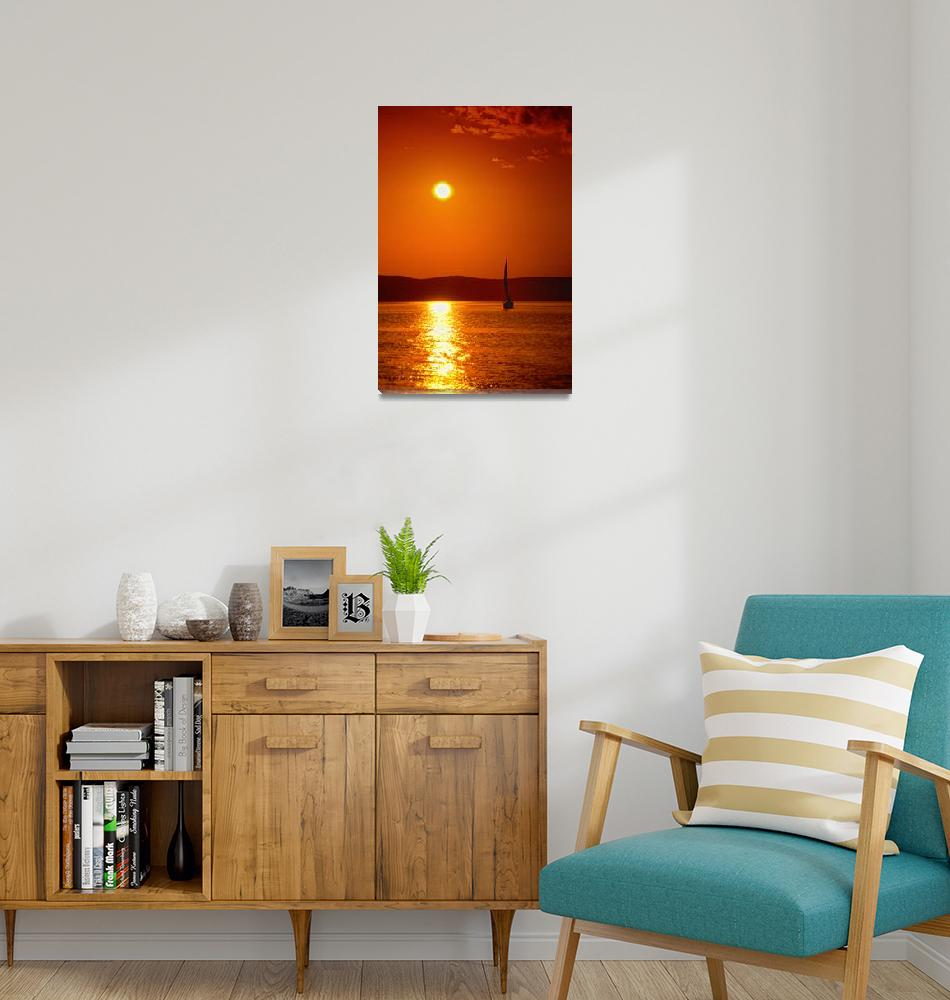 """""""Sailing in the sunset""""  (2008) by Virgonc"""
