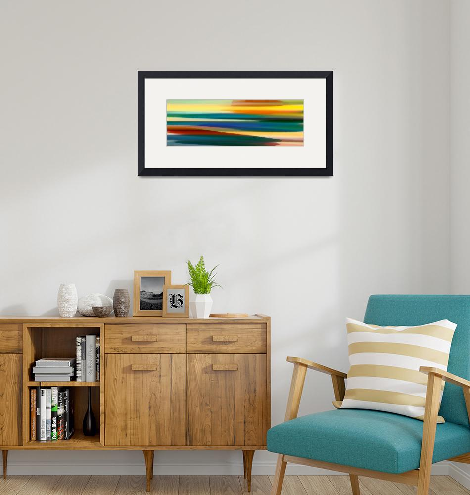 """""""Fury Seascape Panoramic 1""""  (2013) by AmyVangsgard"""