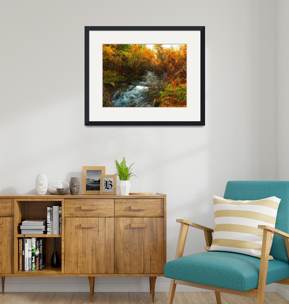 """""""fall creek oil painting""""  (2014) by lizmix"""