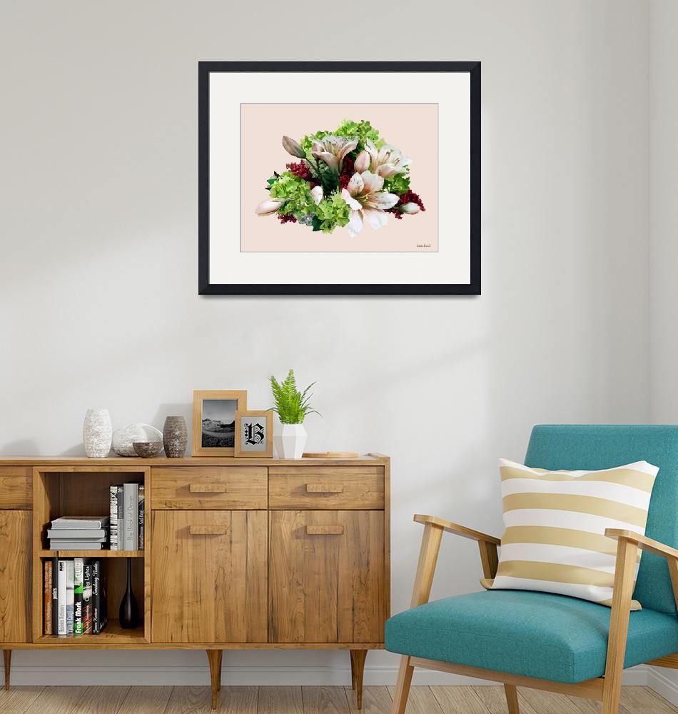 """""""Asiatic Lilies, Hydrangea and Berries""""  by susansartgallery"""