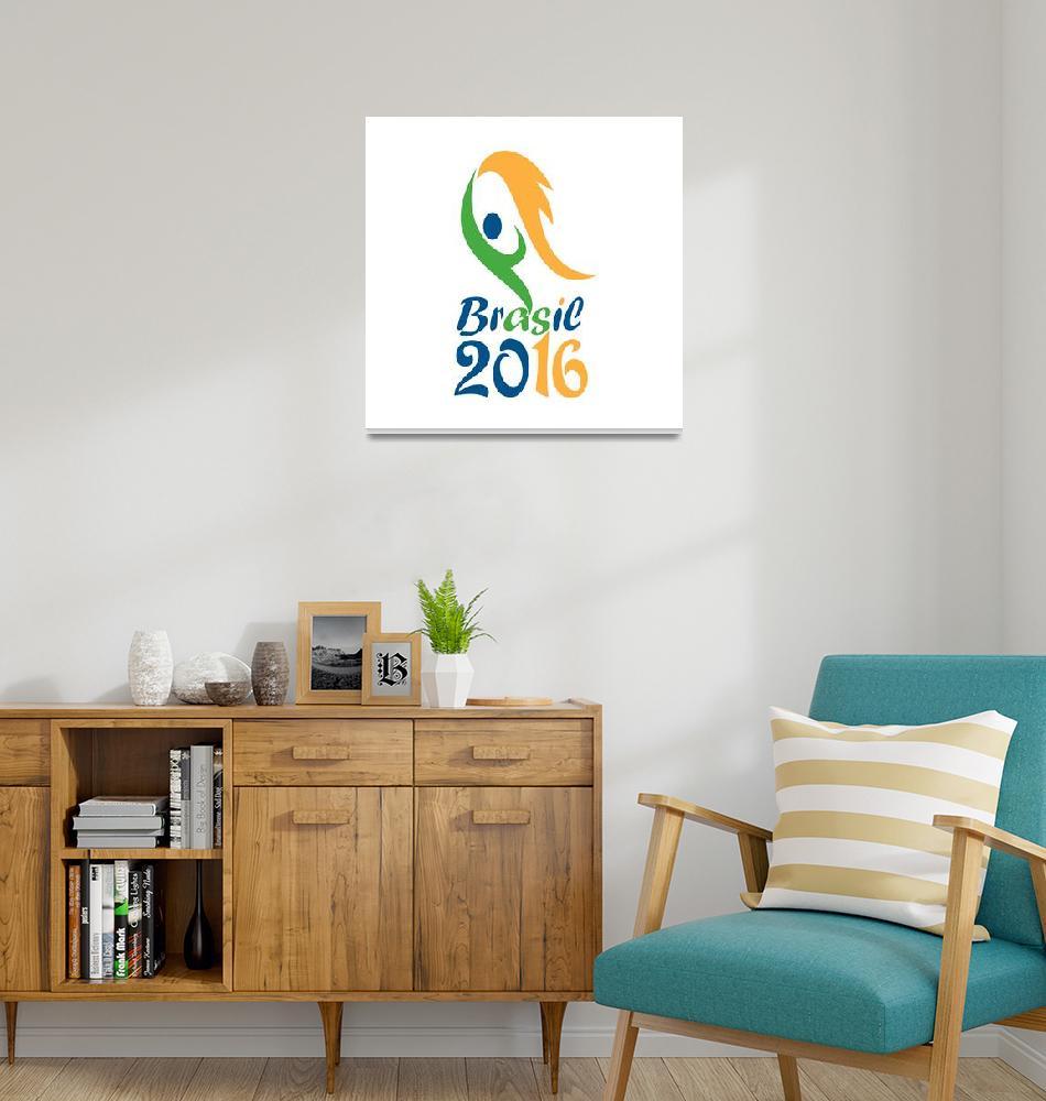 """Brasil 2016 Flames Summer Games""  (2015) by patrimonio"