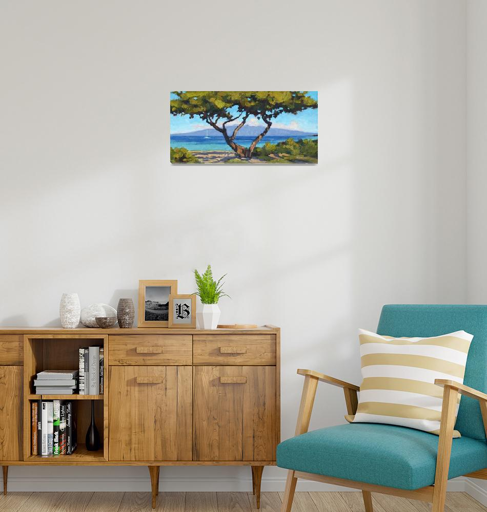 """""""Molokai from Kaanapali""""  (2011) by davidwesterfield"""