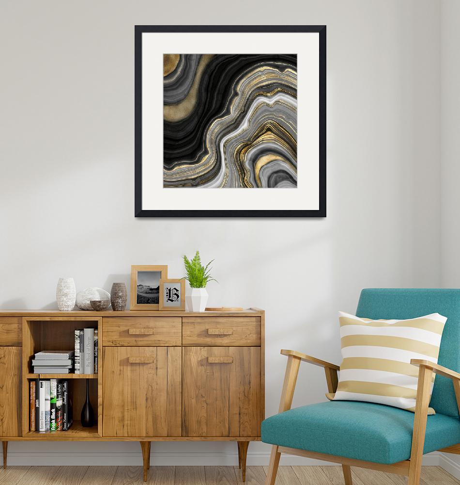 """""""Gold And Black Agate""""  by fineartgallery"""