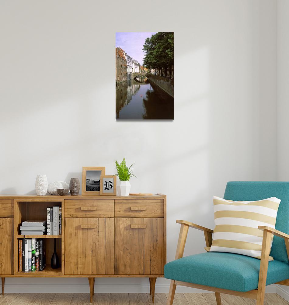 """""""Bruges Canal 2002""""  (2002) by PriscillaTurner"""