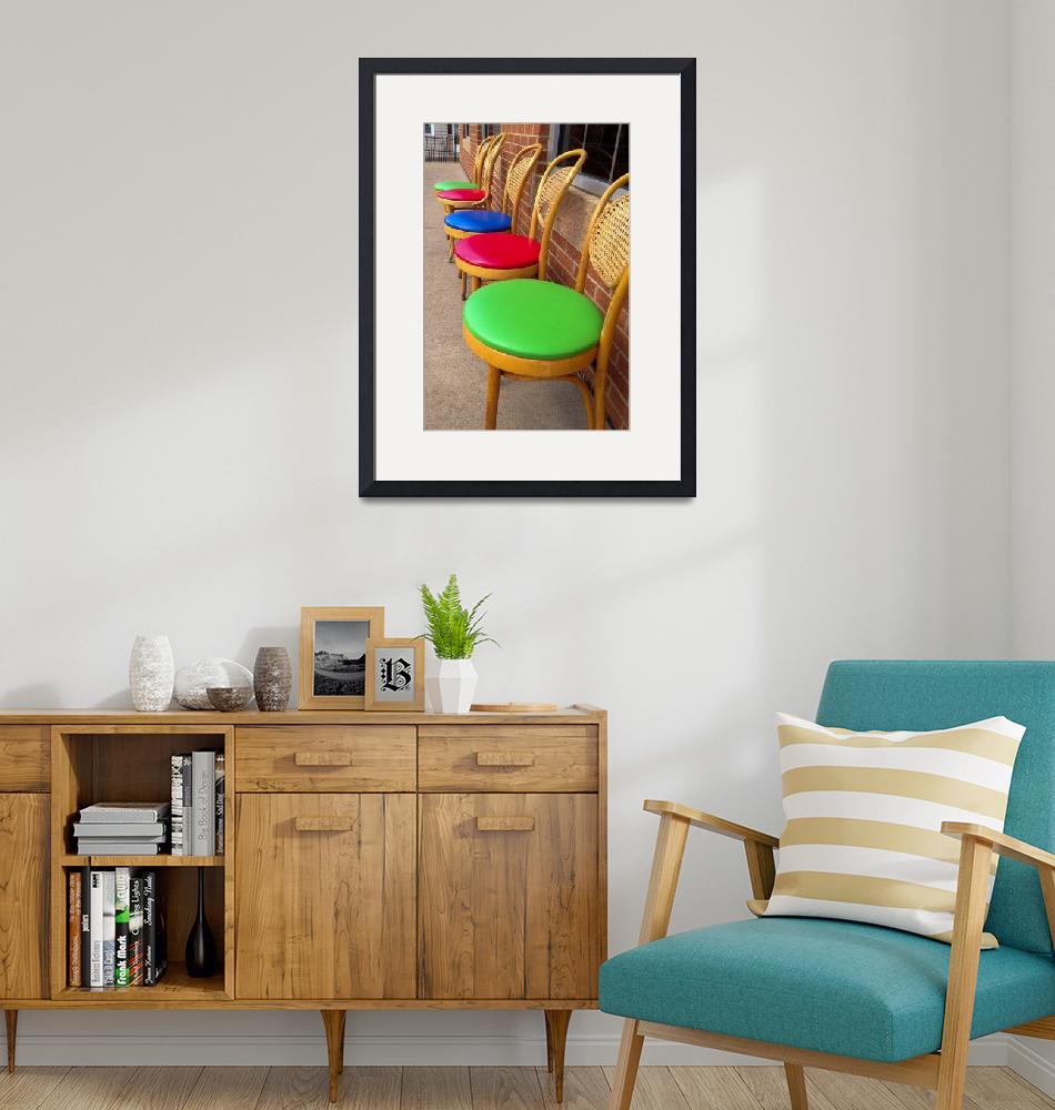 """""""Row of Colorful Chairs""""  (2014) by nshepherd"""