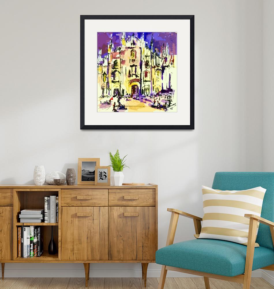 """""""Milan Italy Cathedral Abstract Art by Ginette""""  (2012) by GinetteCallaway"""