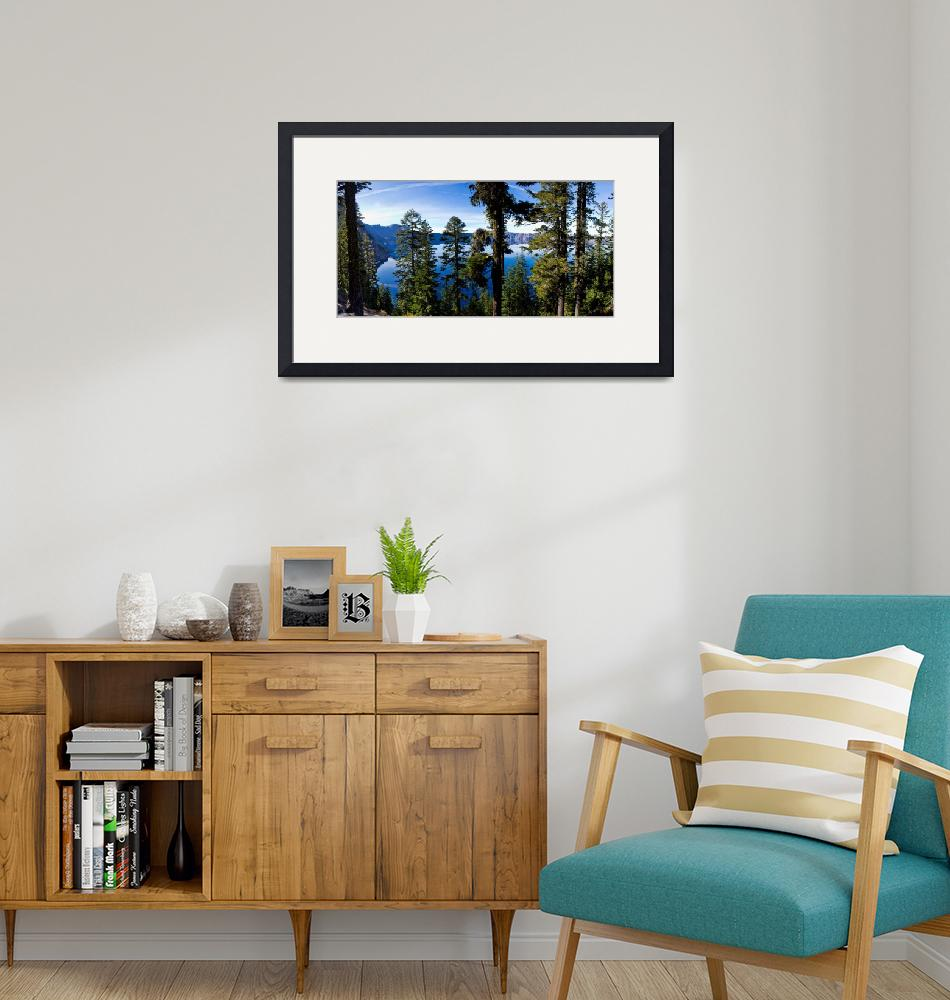 """""""2803oregon.craterlake.throughtrees""""  by North22Gallery"""