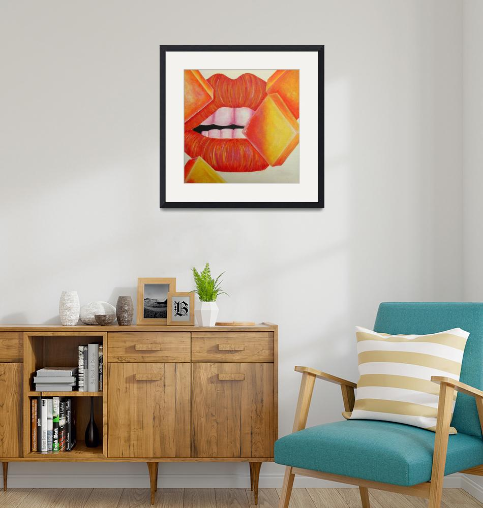"""Orange and Yellow Lips""  (2008) by mmm"