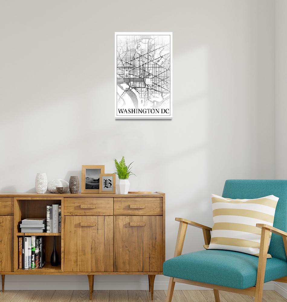 """Washington, District of Columbia, USA, city map pr"" by dandistudio"
