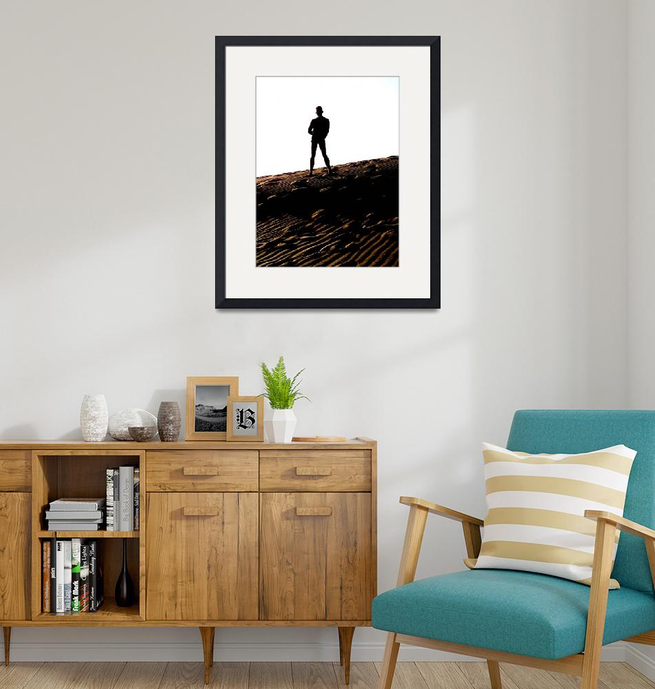 """""""Man on the Dunes""""  (2004) by Peter-J-Robinson-Jr"""