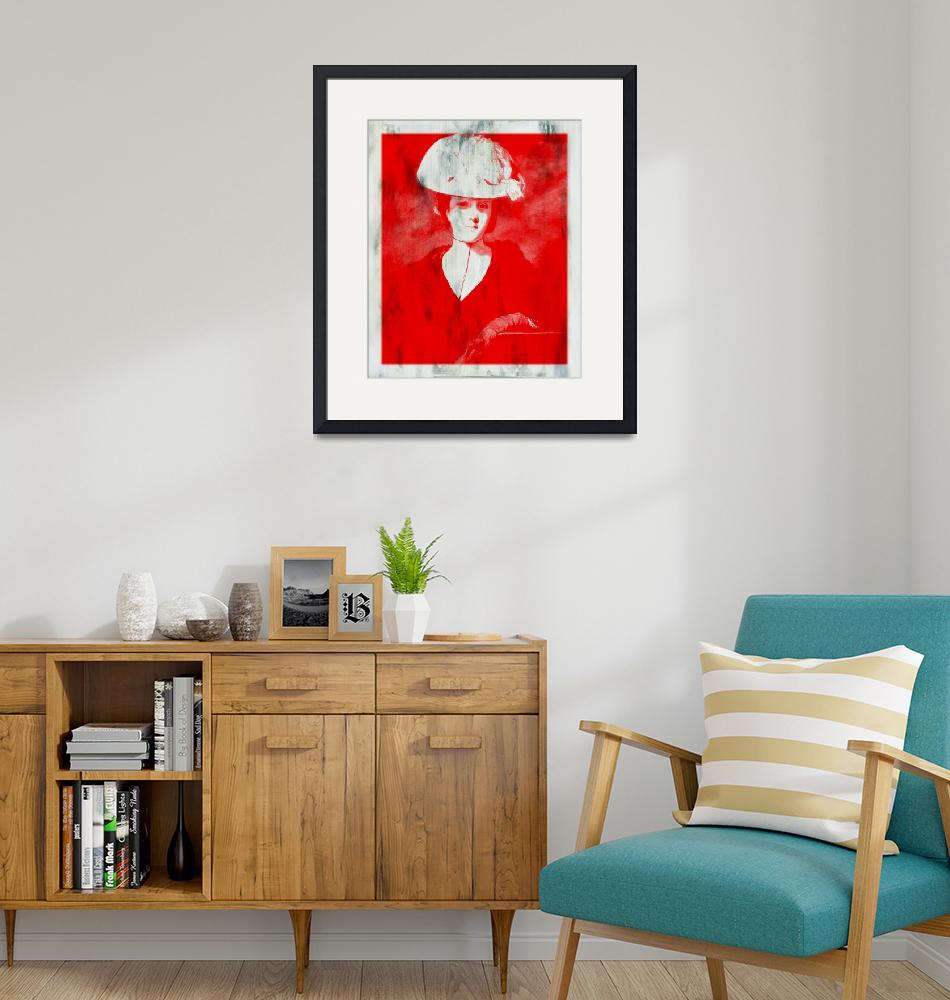 """""""RED DAME IN HAT AFTER REYNOLDS""""  (2015) by DADIO"""