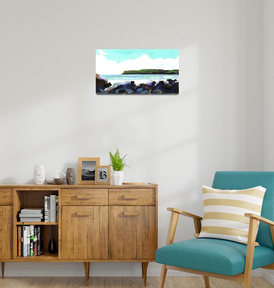 """View of Point Loma from Coronado Beach""  (2007) by RDRiccoboni"