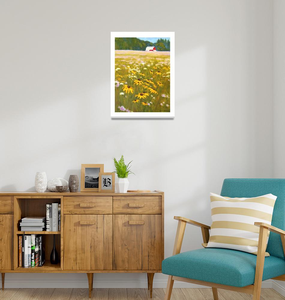 """""""Farm-field-wildflowers-IK""""  (2020) by davidwesterfield"""