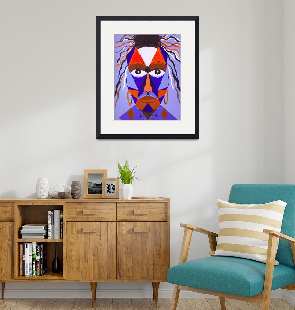 """African Mask""  (1997) by VPHolmesArt"