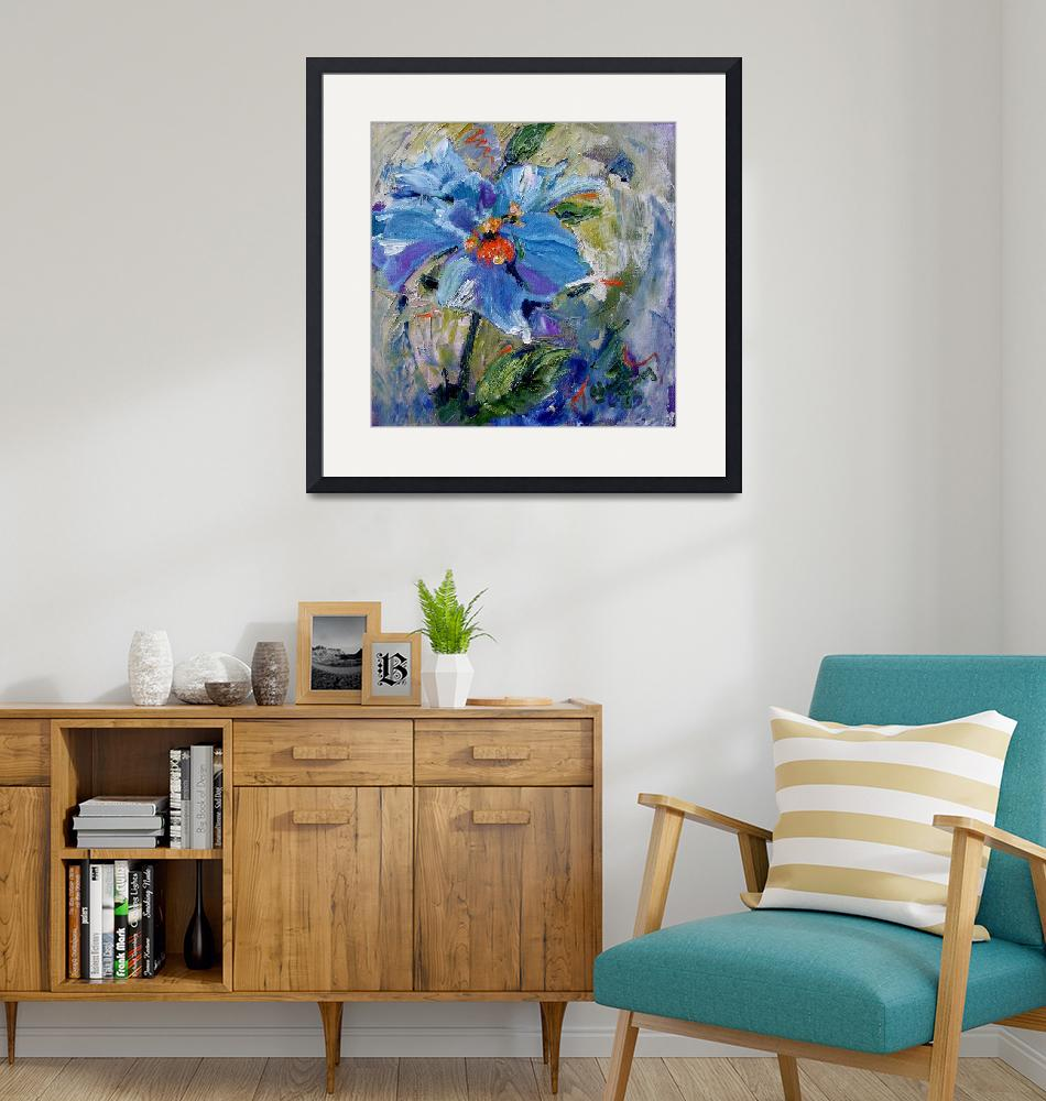 """Himalayan Poppy Impressionist Oil Painting""  (2003) by GinetteCallaway"