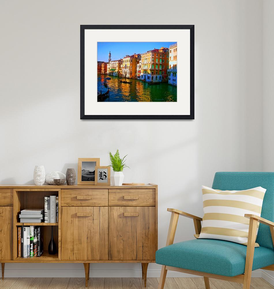 """Venice - Central Canal""  (2011) by artstoreroom"