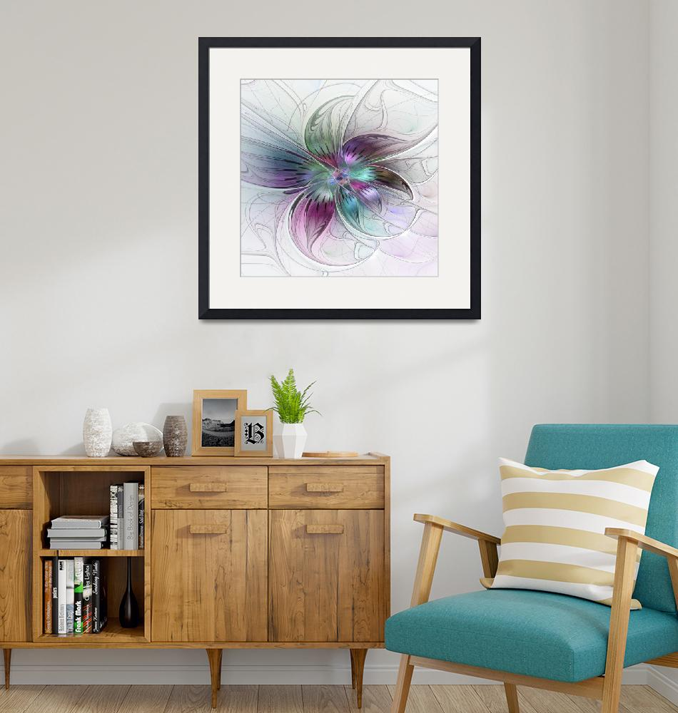 """""""Colorful abstract Flower""""  (2015) by gabiw"""