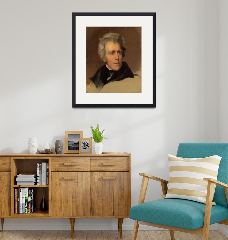 """""""Thomas Sully~Andrew Jackson""""  by Old_master"""
