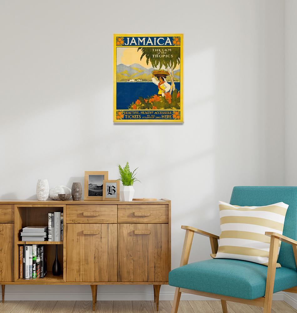 """""""Jamaica, the Gem of the Tropics Thomas Cook Travel""""  by FineArtClassics"""