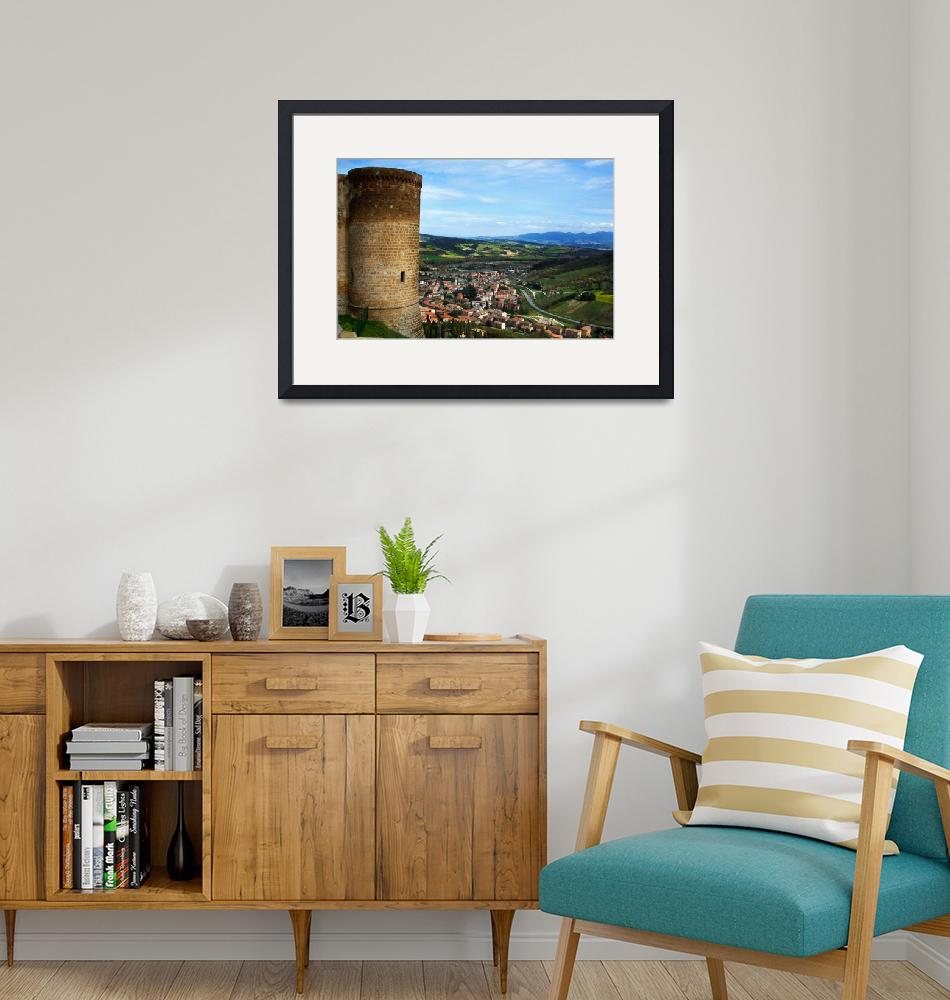 """""""Orvieto view of the Valley""""  (2006) by ErinKanoa"""