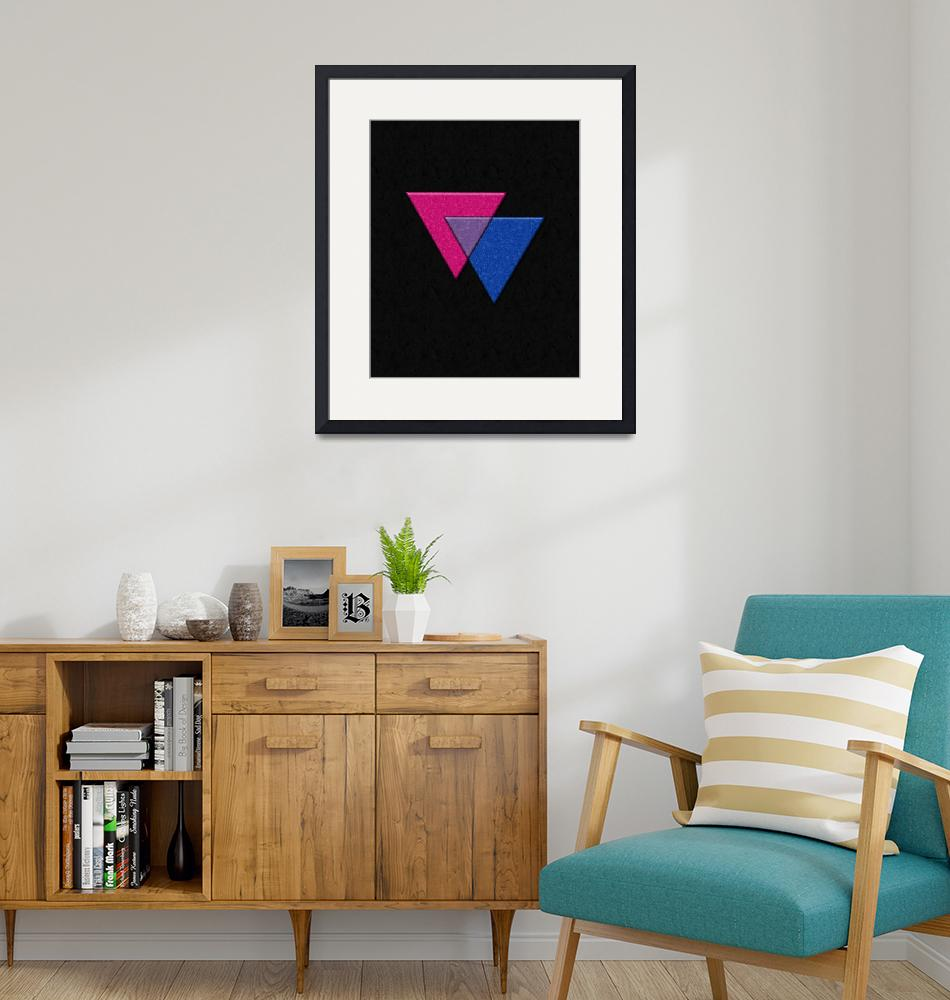 """""""Triangles Symbol - Bisexual Pride Flag""""  by LiveLoudGraphics"""
