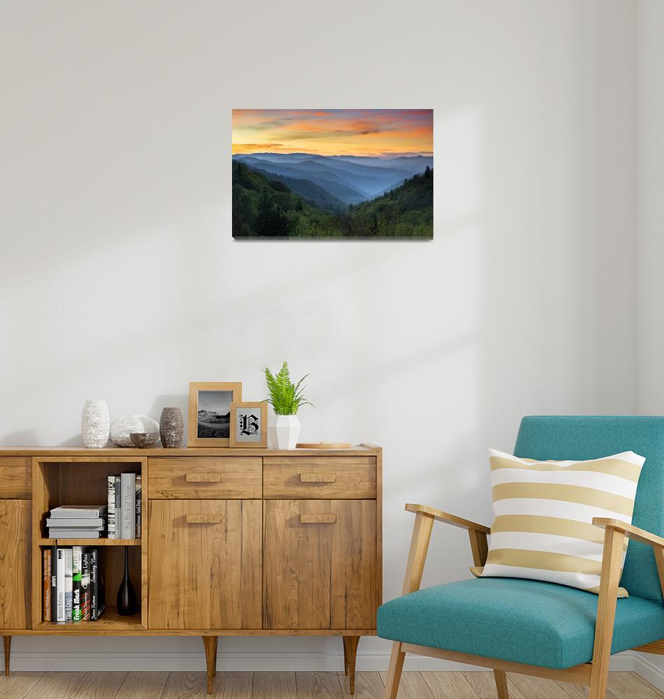 """Smoky Mountains Sunrise - Great Smoky Mountains Na""  (2012) by DAPhoto"