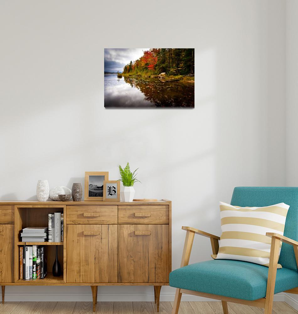 """""""Maidstone Lake in Fall""""  (2009) by awgilmore"""