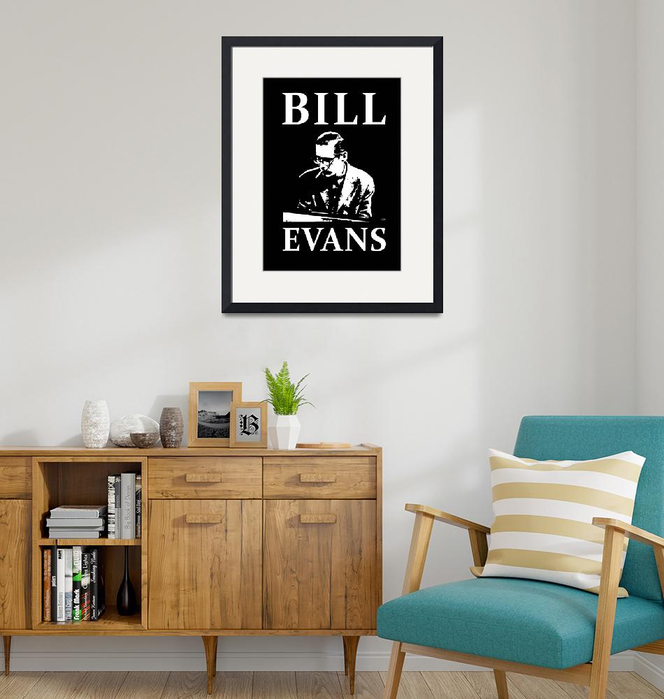 """""""Tribute to Bill Evans"""" (2020) by BlackLineWhite"""
