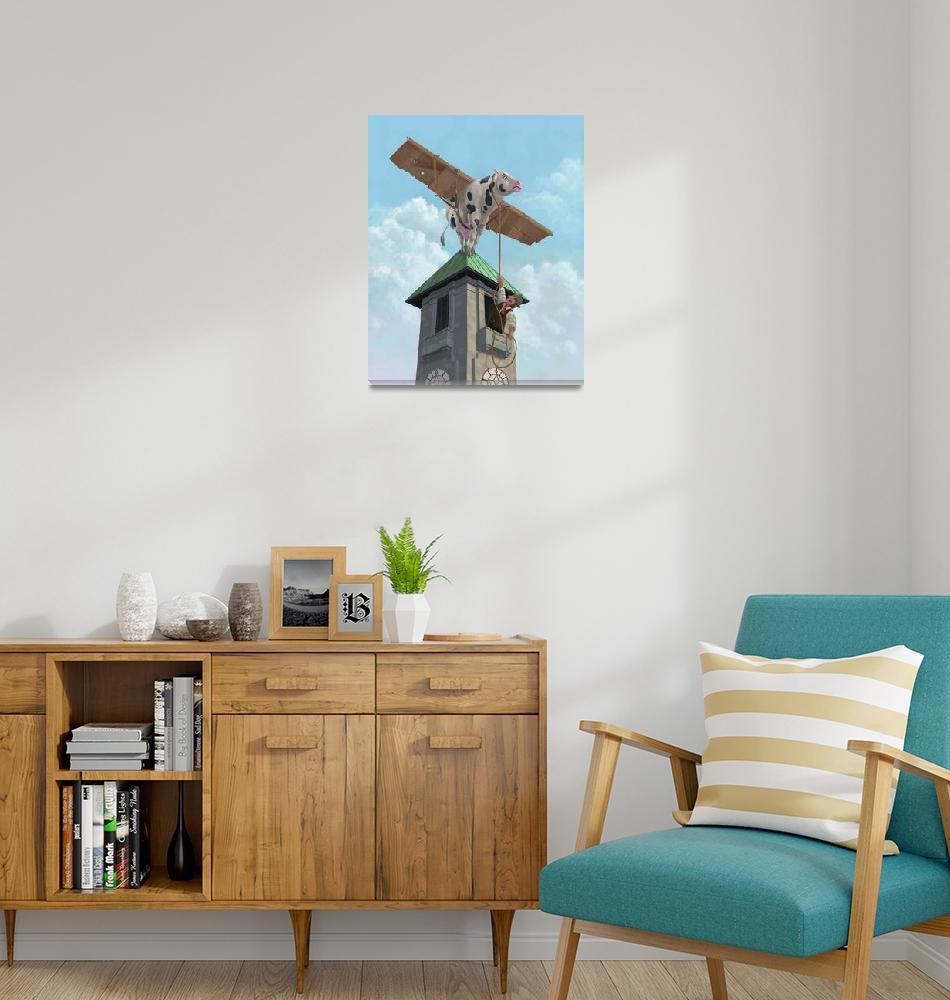 """southampton cow flight""  (2010) by martindavey"