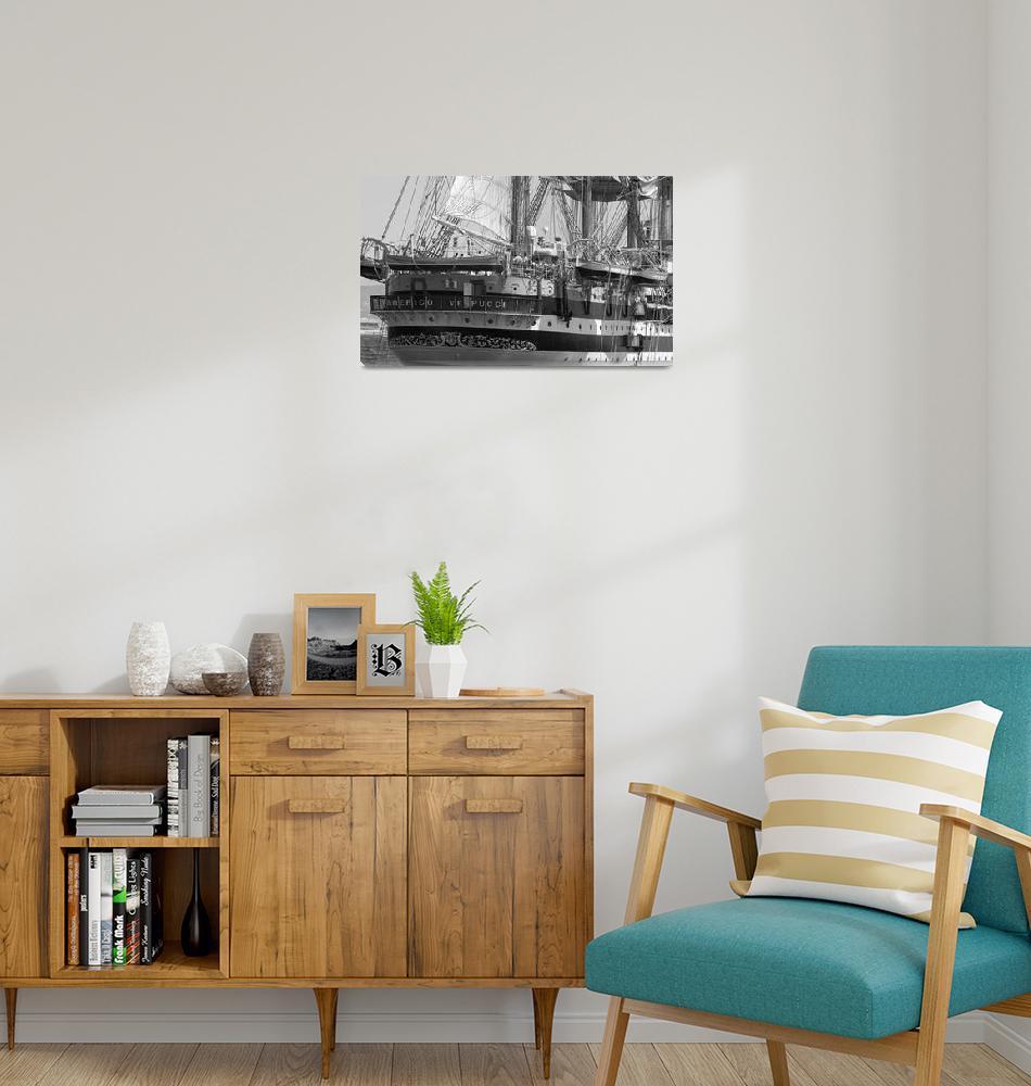 """""""Italian Tall Ship Americo Vespucci.""""  by Avanzini"""