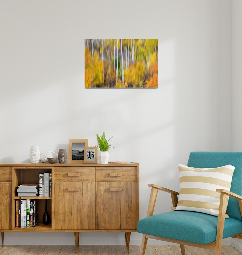 """Surreal Aspen Tree Magic Abstract Art""  (2013) by lightningman"