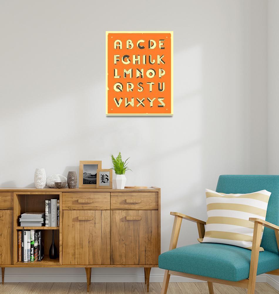 """""""Impossible Alphabet - Orange""""  by JazzberryBlue"""