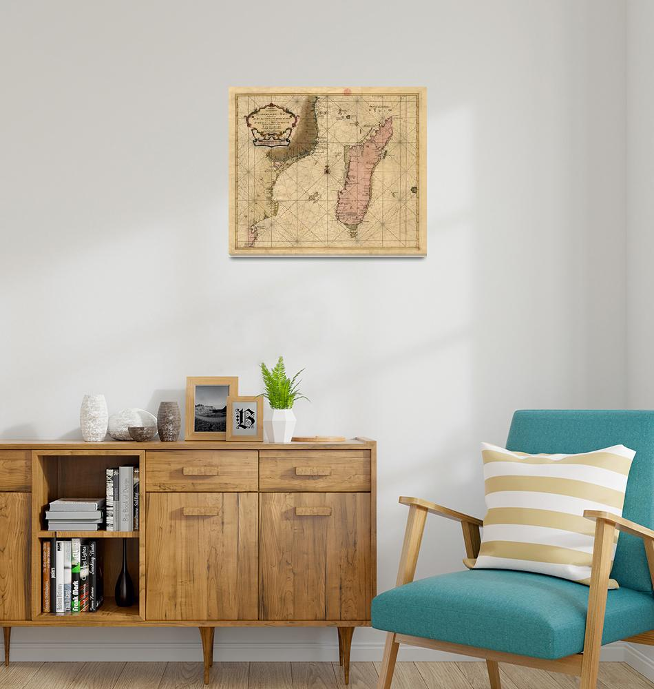 """""""Vintage Map of Madagascar (1679)""""  by Alleycatshirts"""