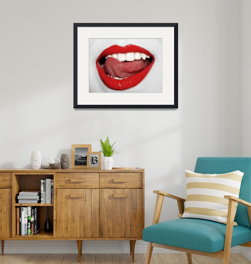 """""""Sexy lips and tongue""""  by pashatp"""